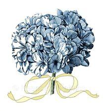 Blue Hydrangea & Ribbon Quilt Block Multi Sizes FrEE ShiPPinG WoRld WiDE