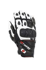 Oxford RP-3 Leder kurz Sport Motorrad schwarz/weiß Handschuhe T