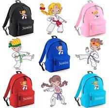 Personalizzata Ricamato Junior KARATE Zaino/Zaino-gi Taekwondo Kids Borsa