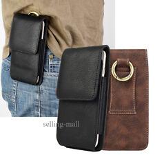 Mens Genuine Vertical Leather Hook Belt Waist Bag Wallet Phone Pouch Fanny Pack