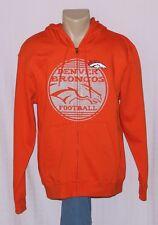 Denver Broncos Football Hoodie Full Zip Sweatshirt - NFL Majestic Mens