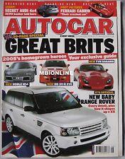 Autocar 30/11/2004 featuring TVR Sagaris, MG SV-R, Range Rover Sport, Morgan