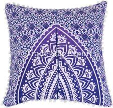 Indian Ombre Mandala Pillow Case Boho Home Decor Square Throw Cushion Cover Set