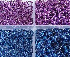 Hufeisen Piercing Ring Circular Barbell TITAN  STUDIO WARE 1,6mm 1,2mm blau pink