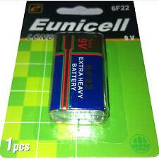 """Marca """"Eunicell"""" 9 V Blocco Batteria Tipo: 6f22 (9v) - Zinco Carbone"""