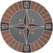 Voyager Compass Mosaic Medallion Slate Quarry Tile Flooring Wall Backsplash RBRL