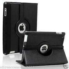 Leather 360 Degree Rotating Cover For Apple iPad mini 4 black