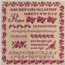 grille point de croix - MARQUOIR aux ROSES ANCIENNES - réf : 2009