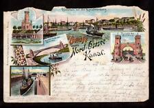 1895 multi-view nord-ostsee kanal germany pioneer postcard