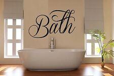 Baño lema Baño pegatinas de pared arte Habitación Decoración Wc bat31