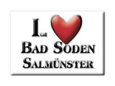 DEUTSCHLAND SOUVENIR - HESSEN MAGNET BAD SODEN SALMÜNSTER (MAIN KINZIG KREIS)