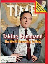 Alexander M. Haig, Jr. Sec. of State, Signed Time Cover, COA, UACC RD 036