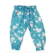 Pantalones de bebé CORAZONES AZUL para chica VON boboli talla 62 68 74 80 86 92