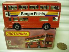 MATCHBOX MB17B BERGER PAINTS BUS BLK MTL BASE DotDash Whls +AXLE Braces MintBx*