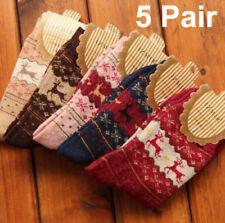 Women Winter Socks Christmas Gift Warm Wool Sock Cute Snowflake Deer Comfort lot