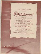 The Theatre Guild Oklahoma Program c. 50's