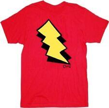 Adult Red Nickelodeon Doug I am Skeeter Lightning Bolt Costume T-shirt Tee