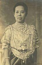 Queen Mother Saovabha Bongsri rppc Siam Thailand 1910