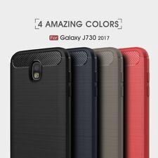 Housse etui coque silicone gel carbone Samsung Galaxy J7 (2017) + film ecran