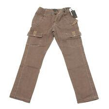 5527G pantalone tasconi marrone bimbo FENDI jeans trousers kids