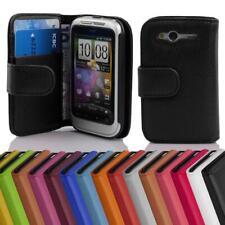 Handy Hülle für HTC WILDFIRE S Cover Case Tasche Etui mit Kartenfächer