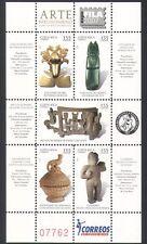 Costa Rica 2007 Art/Craft/Carving/Gold/Bird/Jewellery/Design 5v sht (n35642)