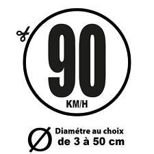 90 KM/H LIMITATION VITESSE BUS TRACTEUR POIDS LOURD ADHÉSIFS AUTOCOLLANT STICKER