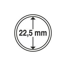 Capsules plastique rondes pour pièces de 20 centimes d'euro diametre 22,5 mm