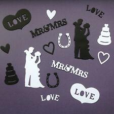 Wedding DIE CUT Shapes-Assortiti Set IDEALE PER INVITI, CARTOLINE, articoli di cartoleria