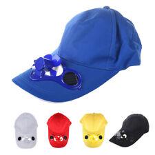 Summer Outdoor Solar Sun Power Hat Cap Cooling Fan for Golf Baseball Sport L2F1