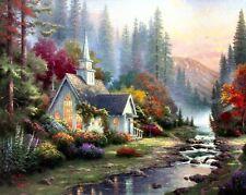 Thomas Kinkade Forest Chapel 8x10 Framed Classic Edition Framed Canvas