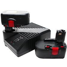 2-Pack 18V Battery 3.3Ah & UniCharger for Bosch 13618, 3860K, GDR 18 V