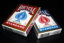 Mazzo carte da da gioco Bicycle Standard Index (dorso blu-rosso) formato poker