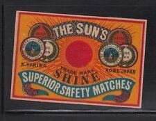 Ancienne étiquette Allumettes Japon AAA1323 Le Soleil