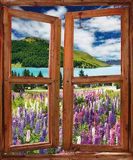 Sticker fenêtre trompe l'oeil Paysage réf 745