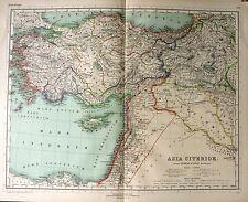 1892 MAP ~ ANCIENT WORLD ~ ASIA CITERIOR ~ MARE CARPATHIUM LYCIUM