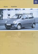 Daewoo Matiz Zubehör Prospekt 4/03 brochure accessories 2003 Auto PKWs Korea