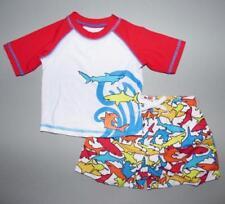 FLAPDOODLES® Baby Boys' 18M Shark Swim Shorts & Rashguard Shirt Set *NWT