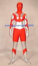 Red/Silver Lycra Spandex Ultraman Suit Catsuit Costumes Unisex Ultraman Suit 161