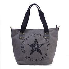 Estrella Vintage Estampado Bolso de compras mujer Star Fashion Lona Tejido
