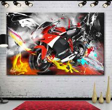 Ducati Bike Motorsport Motorrad & Autos Abstrakt Bilder Leinwand Wandbild 1277A