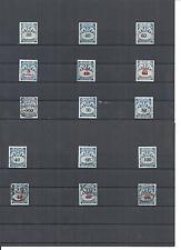 Danzig, Gdansk 1923-1938, Einzelmarken aus MiNrn. Porto 30 - 47 */o, zur Auswahl