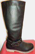 Damen Schlupf Winter/Herbst Schuhe Gefüttert Stiefel Stiefeletten  Boots  37-38