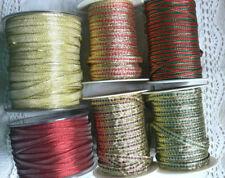 Choice of Metallic Ribbons 6 Varieties 5 Met Lengths 5 to10mm Wide May Arts CR14
