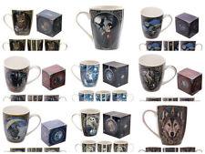 GORGEOUS LISA PARKER BONE CHINA MUGS - GIFT BOX - OWL/UNICORN/CAT/WOLF/WITCH