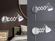 Wandlampen schwenkbare Leselampen mit Lesearm ausziehbar fürs Schlafzimmer Bett