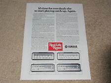 Yamaha CR-2020, CR-1020, 820,620 Empfänger AD, 1 PG, Artikel 1977