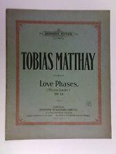 Assolo di pianoforte Tobias matthay Op. 12 LOVE fasi