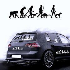 Autoaufkleber Sticker Autofolie Aufkleber Evolution Hund Boxer