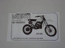 advertising Pubblicità 1980 MOTO VALENTI CR 250